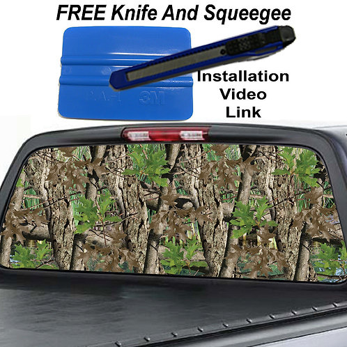 Heavy Timber Camo Rear Window Graphic Decal Sticker