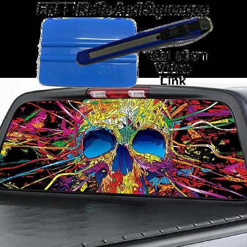 Multi-colored Skull Rear Window Graphics