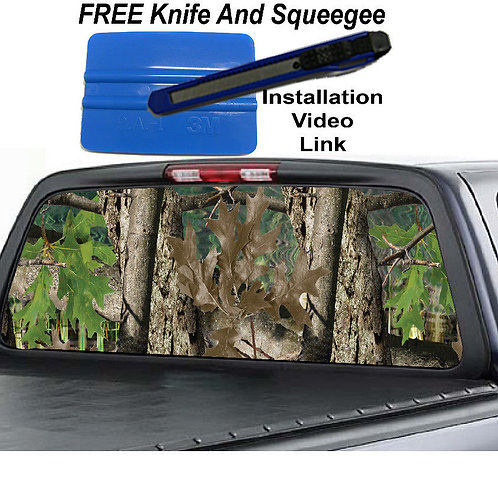 Real Tree Camo Rear Window Graphic Decal Sticker