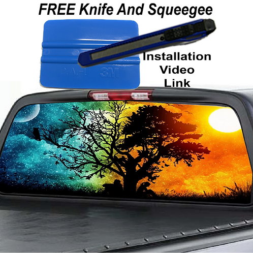 Day & Night Tree Rear Window Graphics