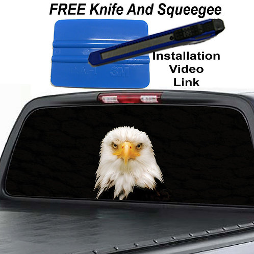 American Bald Eagle Rear Window Graphic Decal Sticker