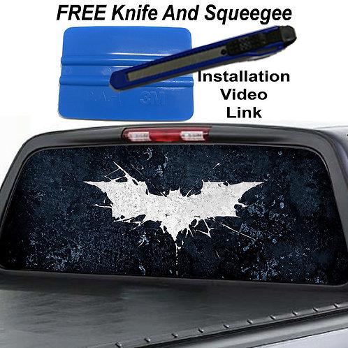 Dark Knight Rises Batman Rear Window Graphic Decal Sticker