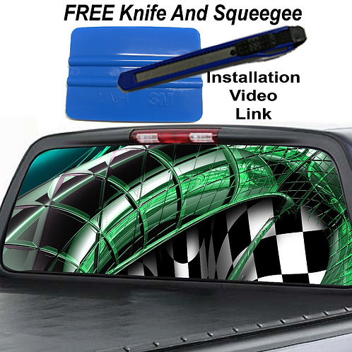 Green Sidewinder Rear Window Graphic