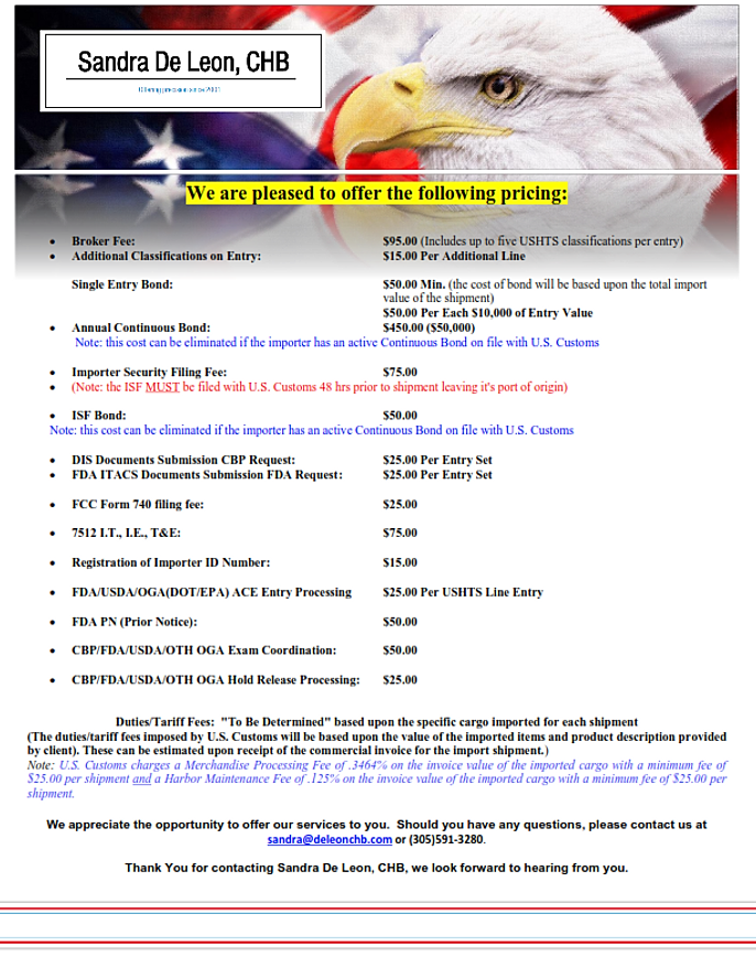 border agents listjpg  importers and customs brokers