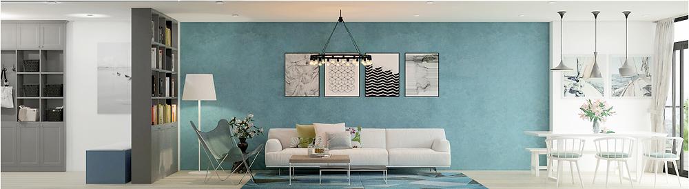 Thiết kế điều khiển cường độ ánh sáng đèn tại các khu vực bàn ăn và sofa