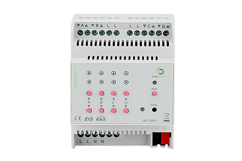 KNX Shutter Actuator, 4 channels, 6A