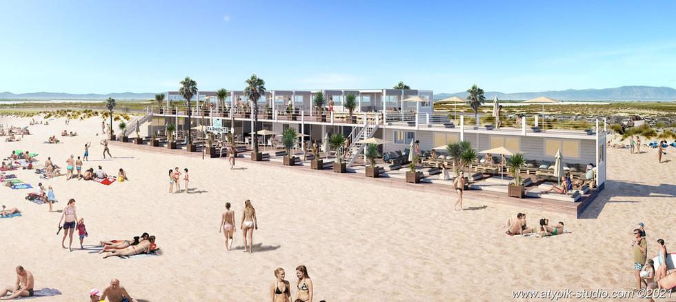 Restaurant de plage Saintes Maries de la Mer