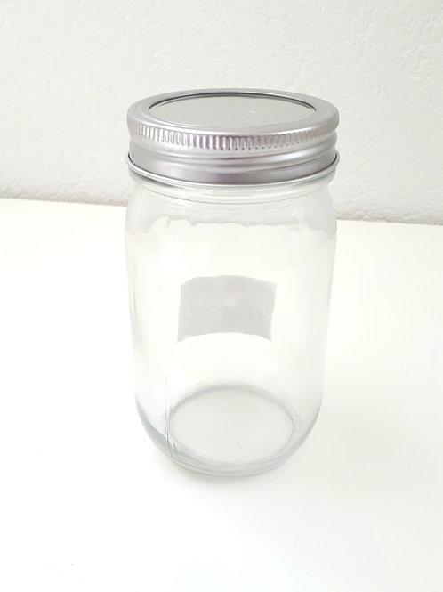 Glas mit 2-teiligem Deckel