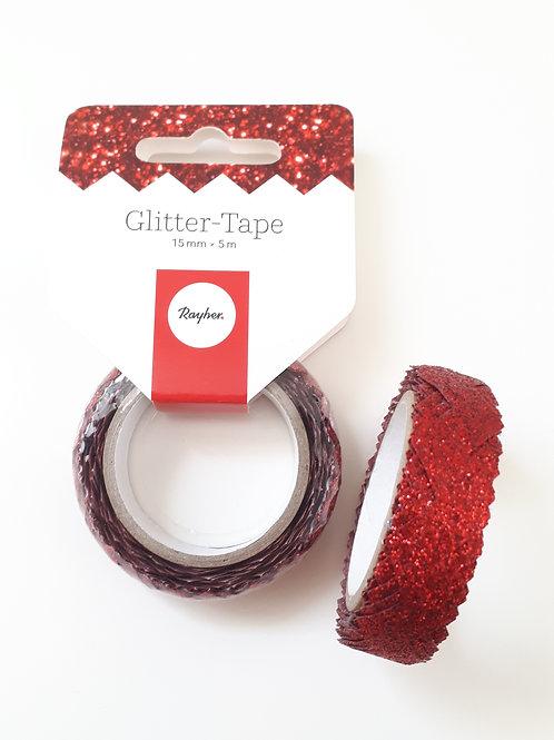 Glitter-Tape rot