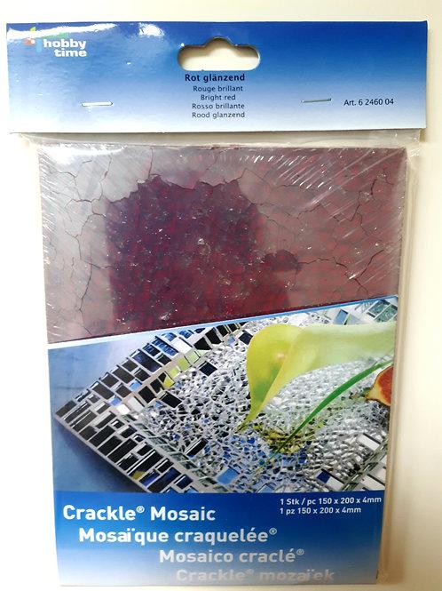 Crackle-Mosaikplatte rot glänzend