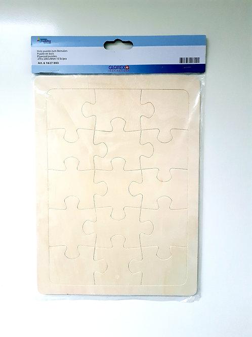 Holz Puzzle zum bemalen