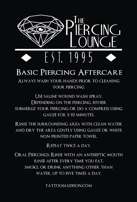 Piercing Aftercare - front 4x6 2017NEWLO