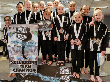 Jana's Gymnastics competes at Quest for the Diamond