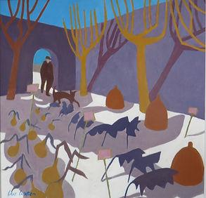 _Winter garden_  oil  50 x 50 cms