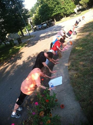 My Tribe Boot Camp Pushups Piedmont Park Atlanta