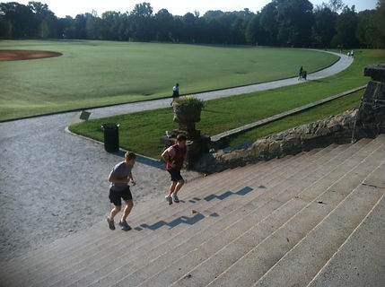 Stair run My Tribe Boot Camp Piedmont Park Atlanta