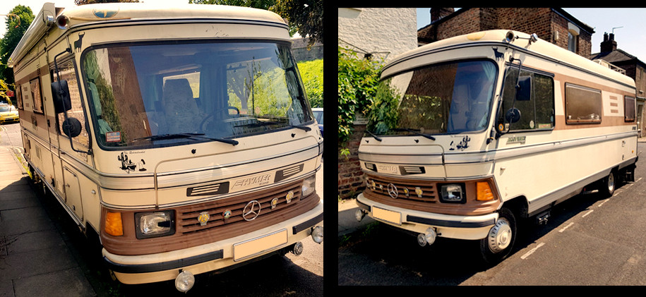 Hymer off to go camping...