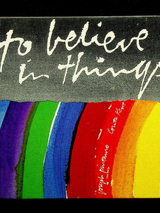 Joseph Pintauro. To believe in things (1971)