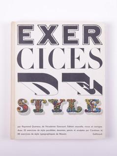 Queneau. Exercices de style (1963)