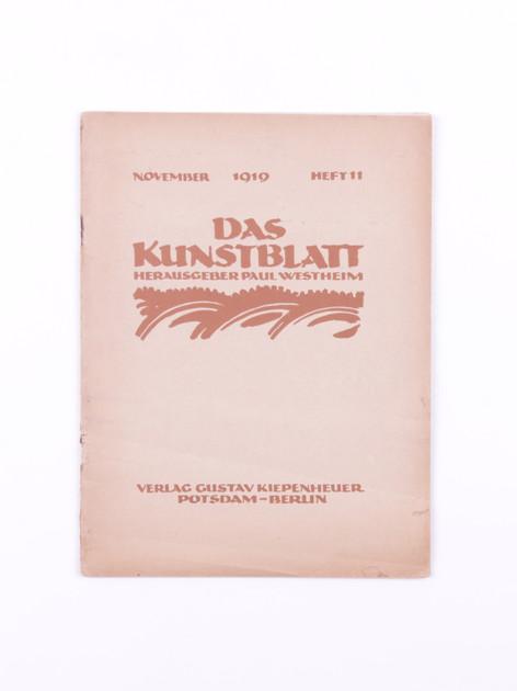 Das Kunstblatt, 11 (1919)