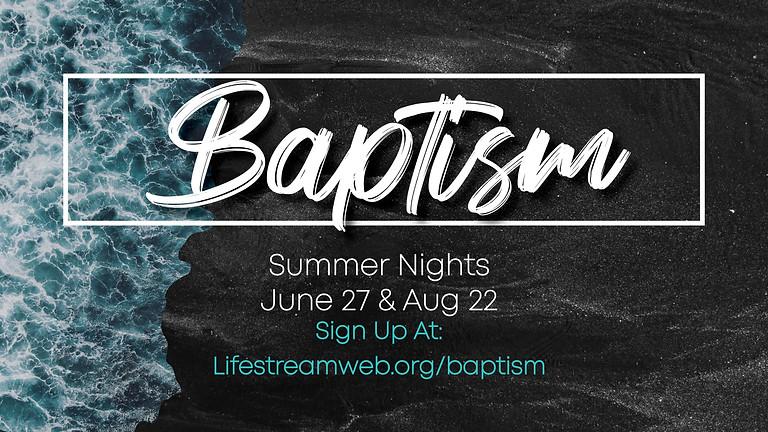 Baptism Night at the Lake