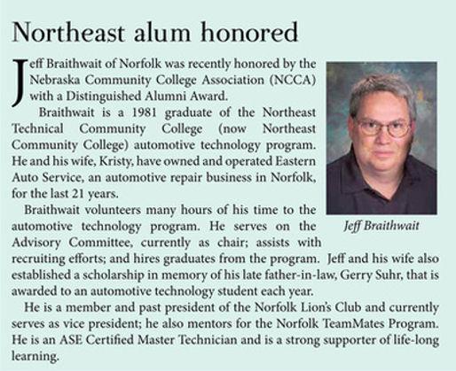 Jeff Braitwait, Eastern Auto Service Norfolk, NE