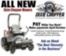 Dixie Chopper Lawn Mower, ABC Storage, storage units, storage containers, mobile units, U-haul rentals