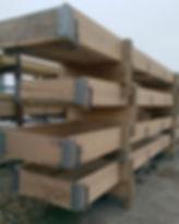 wood feed bunks