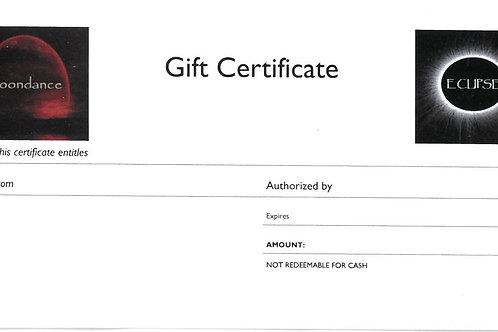 Moondance / Eclipse Gift Certificates