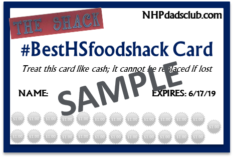 #BestHSfoodshack Food Card