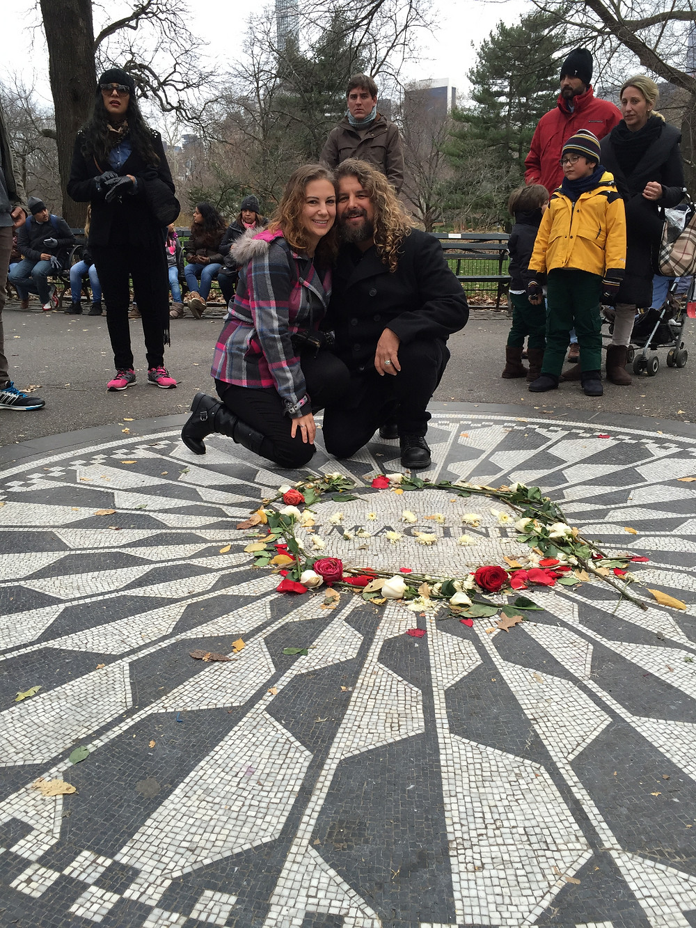 I married the love of my life on a beautiful December day at the John Lennon Memorial in central Park , thanks for all your well wishing