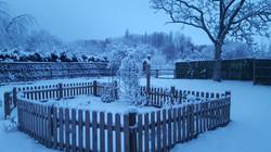 Jardin_Gîte_le_Blason_sous_la_neige