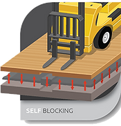 self blocking icon - floor system technology
