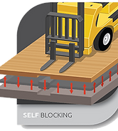 self blocking icon - floor system technology