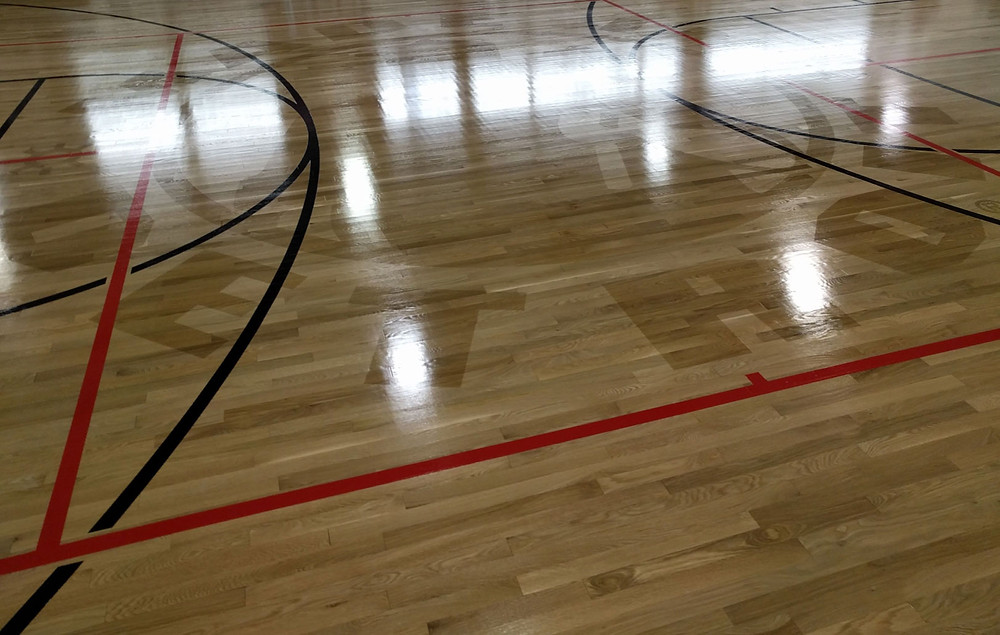 Private Residence located in Michigan wood gymnasium flooring