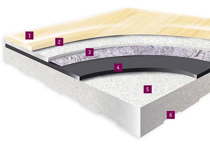 tarkett omnisports 9.4mm detail floor image