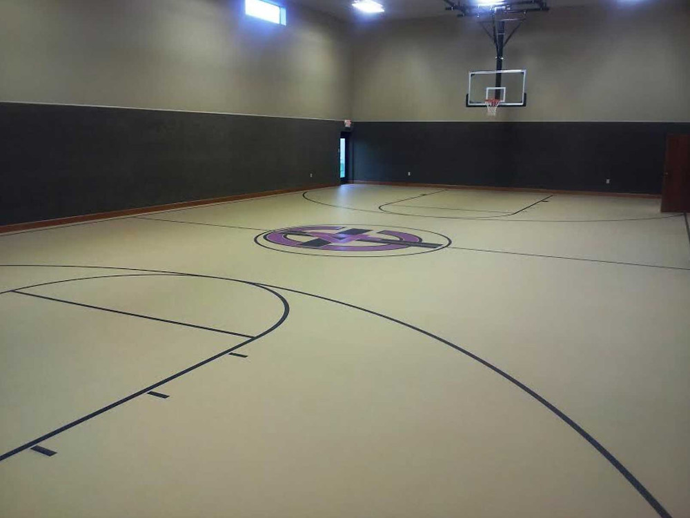 Crossroads Community Church located in Indiana pulastic strata sport gymnasium flooring