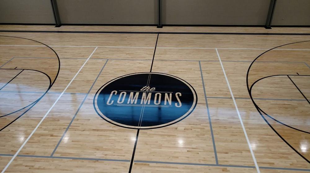 242 Community Church located in Ann Arbor, Michigan Bio-Cushion wood gymnasium flooring