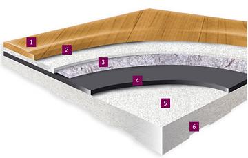 tarkett vinyl 7.1mm flooring detail