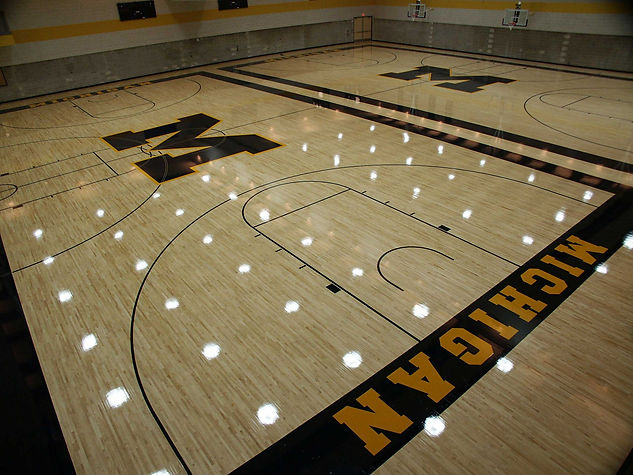 Foster Specialty Floors wood gymnasium flooring at the University of Michigan
