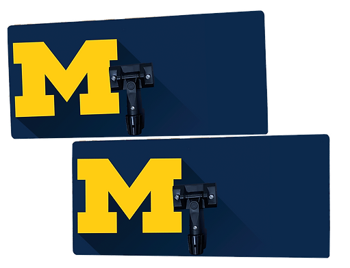 UofM University of Michigan logo printed on 26in x 12in custom specialty sweat mop
