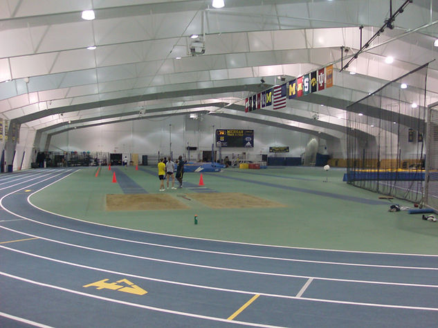 University of Michigan track and field new rubber track flooring system by Foster Specialty Floors