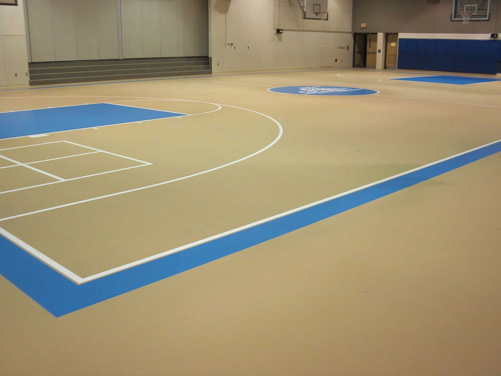 West Noble Middle School located in Ligonier, IN pulastic gymnasium flooring