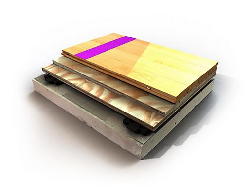 bio cushion classic wood floor detail imag