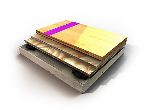 BIO CUSHION CLASSIC wood flooring detail