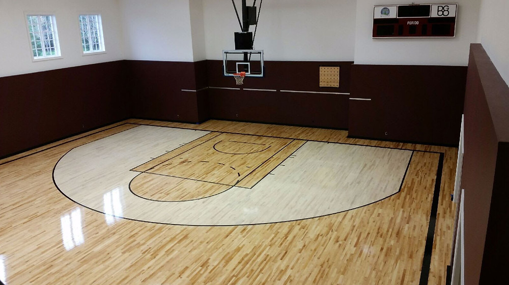Private Residence wood gymnasium flooring located in Michigan