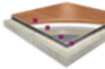 Omnisorts Hpl vinyl flooring close up detail