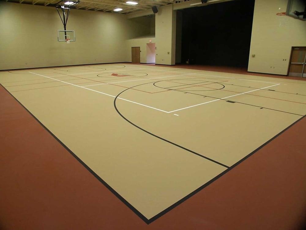 United Methodist Highland located in Highland, Michigan pulastic gymnasium flooring