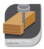 cnc manufactured subfloor - floor system technology