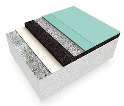 pulastic comfort pad and pour flooring detail
